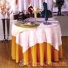 餐厅粉红色提花台布